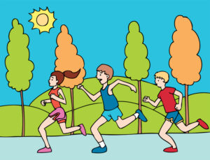 Runners-Going-for-Their-Goal