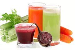 Фруктово - овощные миксы на основе свекольного сока.