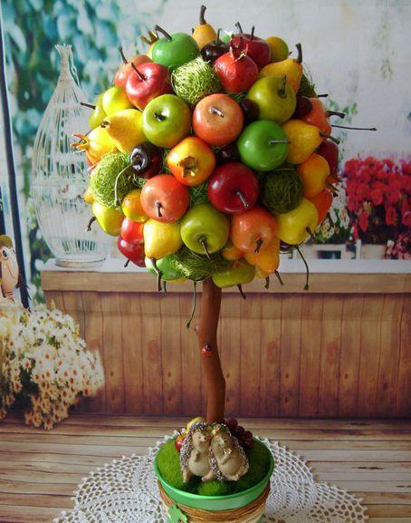 Сделать топиарий из фруктов своими руками